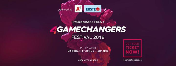 4Gamechangers Festival 2018 am 18. April 2018 @ Marx Halle.
