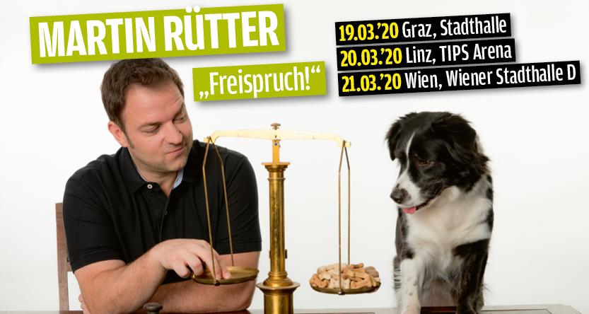 Martin Rütter: Freispruch! am 20. March 2020 @ Tips Arena Linz.