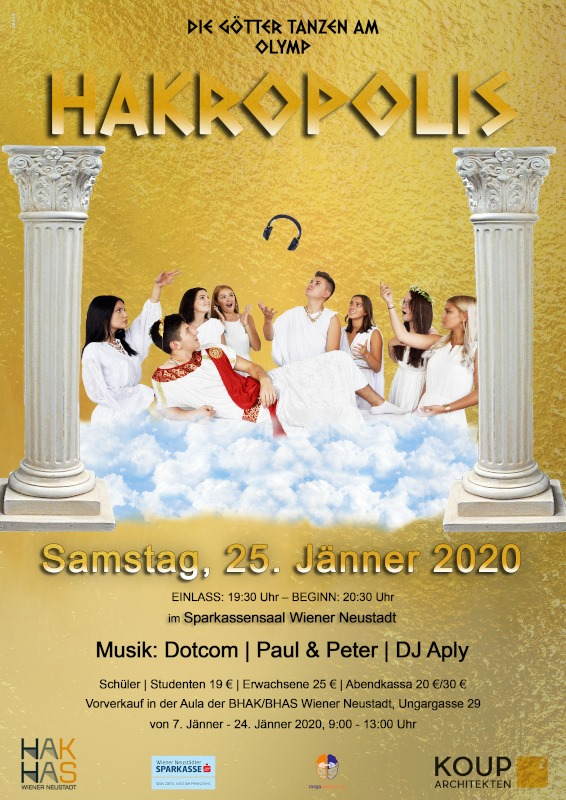 72. Schulball / Hakropolis am 25. January 2020 @ Sparkassensaal Wiener Neustadt.