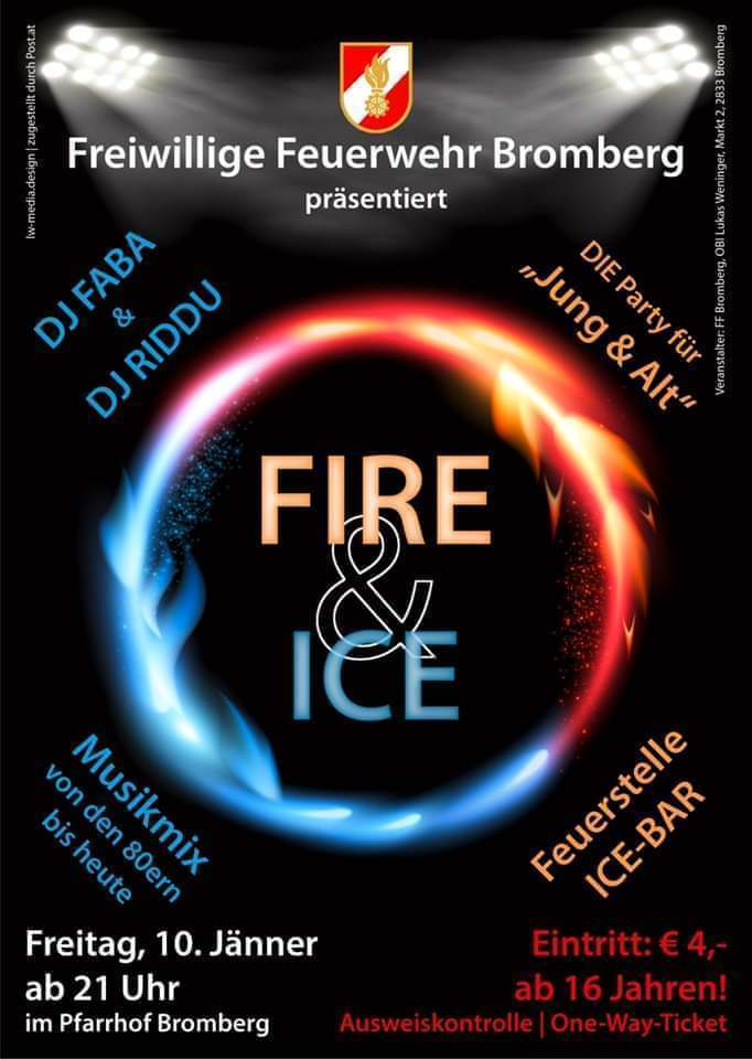 Fire & Ice Party 2020 am 10. January 2020 @ Bromberg.
