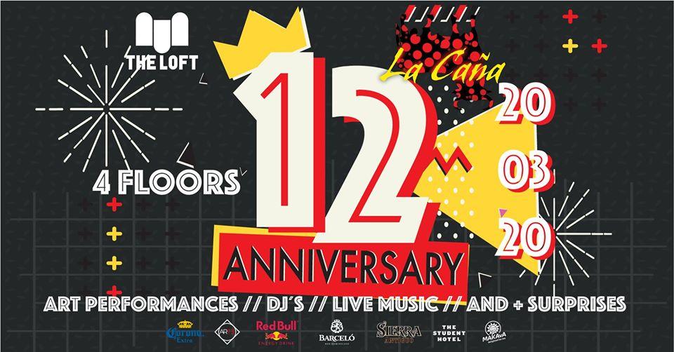 La CAÑA 12 Anniversary (4 Floors) am 20. March 2020 @ The Loft.