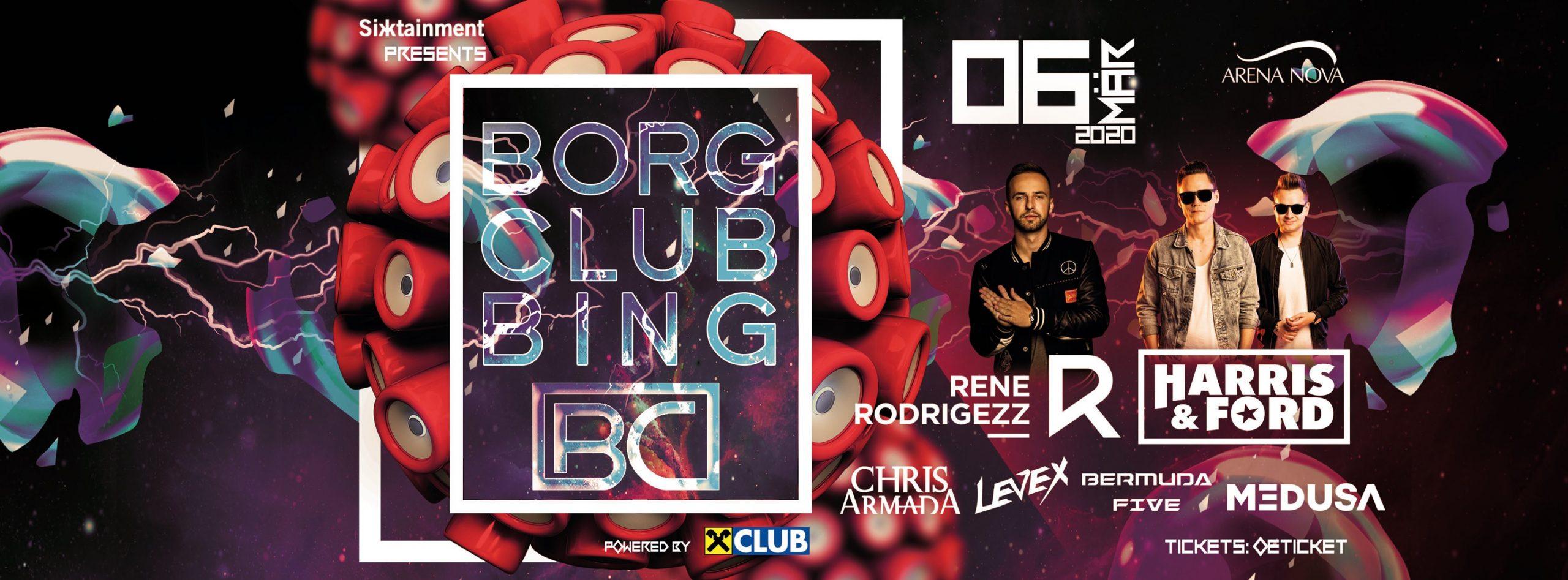 BORG Clubbing 2020 am 6. March 2020 @ Arena Nova Playgrounds.