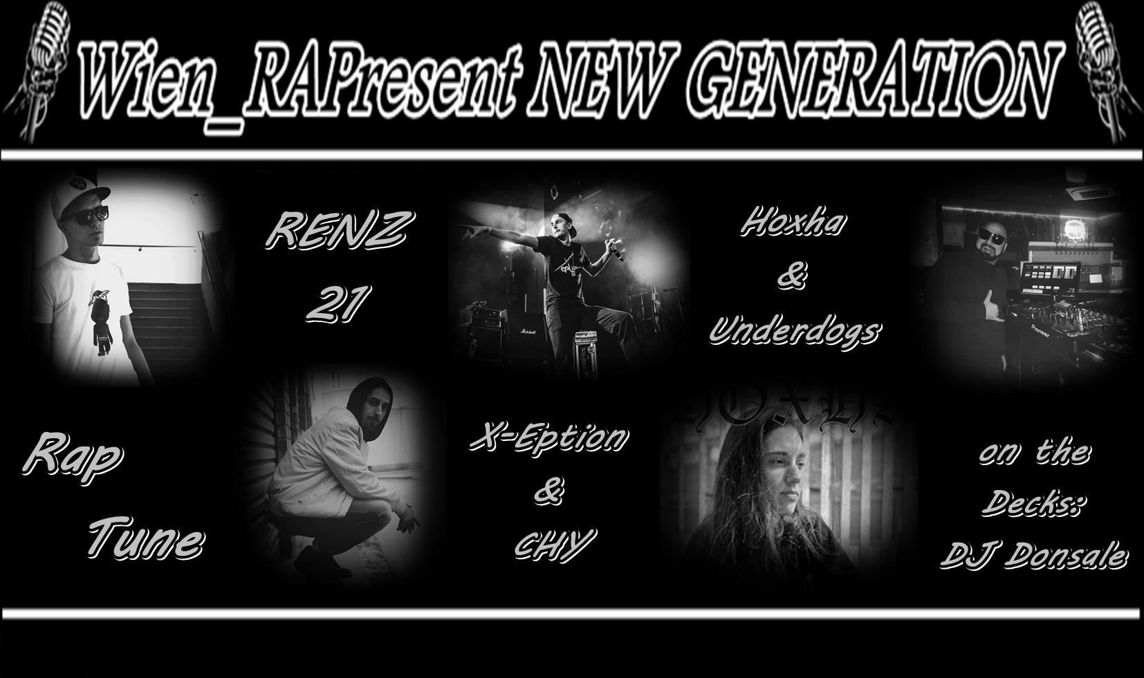 WIEN_#RAPresent: NEW GENERATION am 20. May 2020 @ Szene Wien.
