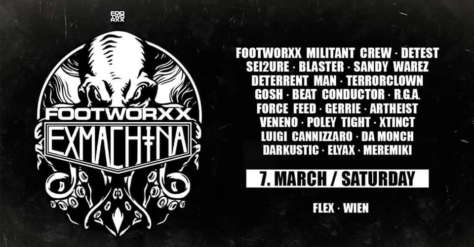 EXMACHINA duo - Footworxx Label Night am 7. March 2020 @ Flex.