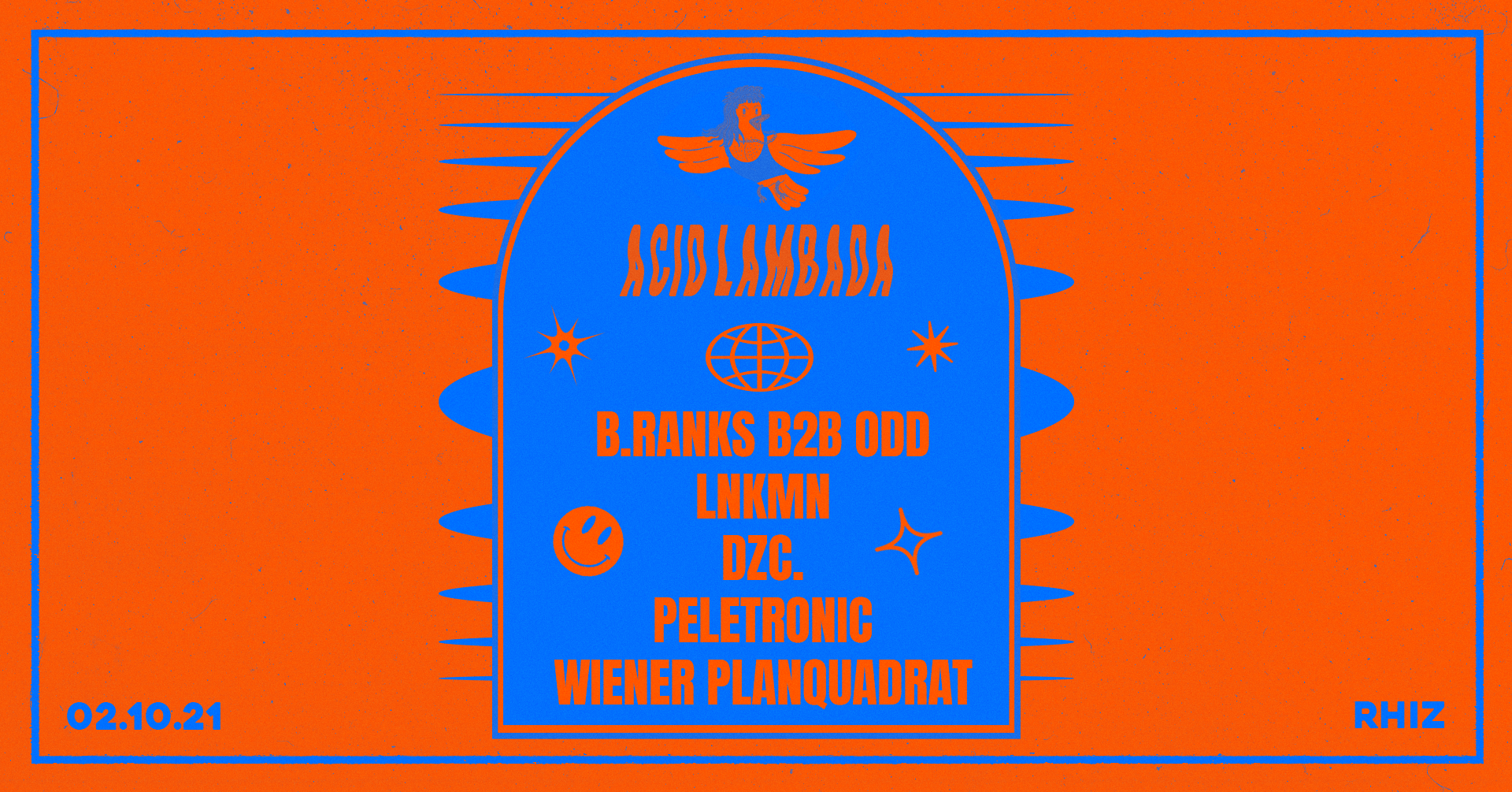 Acid Lambada w/ Off The Grid am 2. October 2021 @ Rhiz.