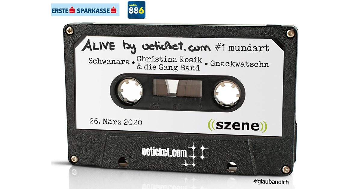 ALIVE by oeticket.com: #1 Mundart am 25. November 2020 @ Szene Wien.
