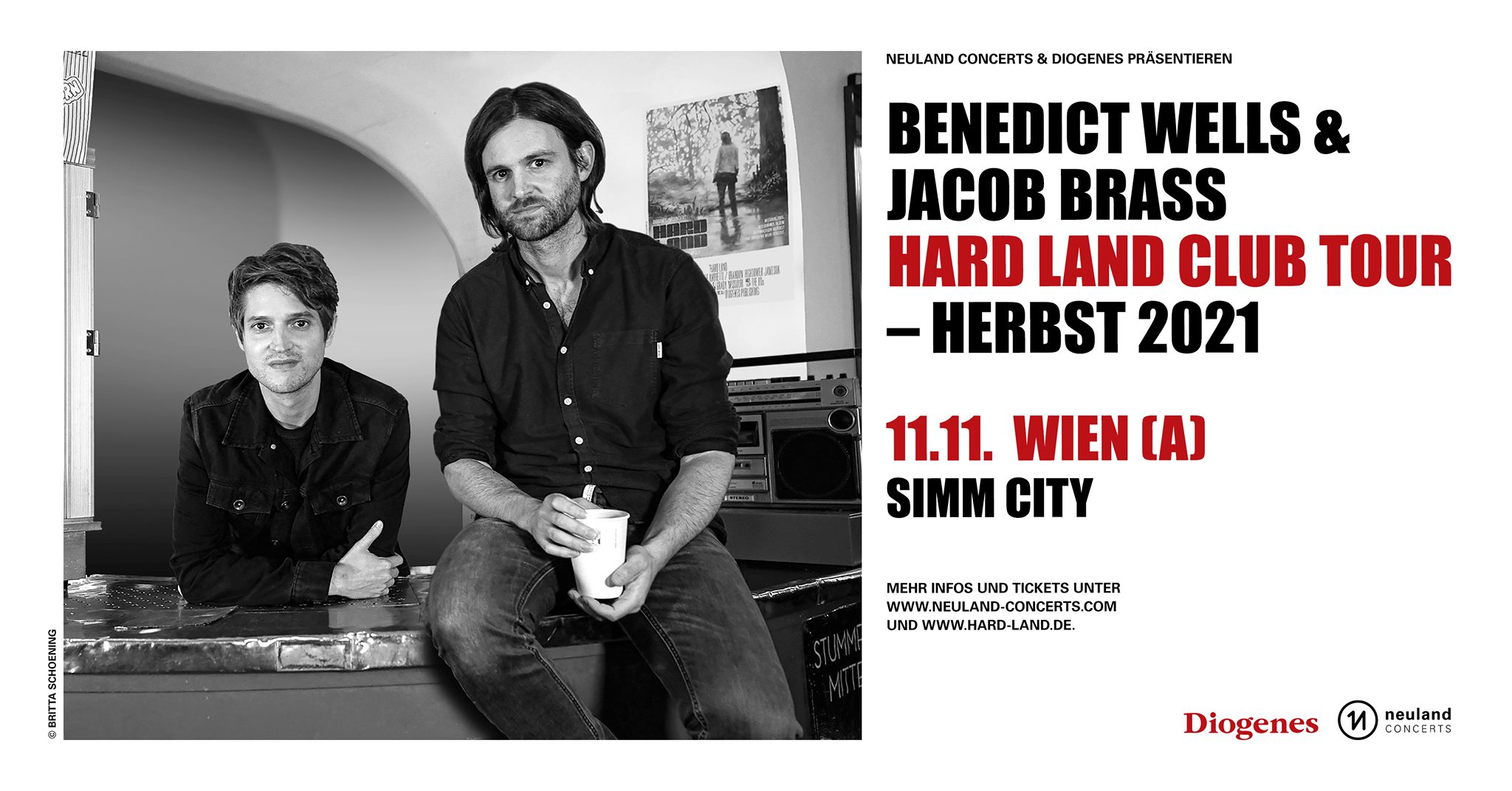 Benedict Wells & Jacob Brass am 11. November 2021 @ Simm City.