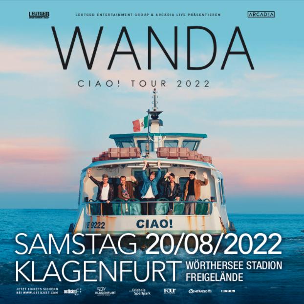 Wanda am 20. August 2022 @ Wörthersee-Stadion Freigelände.