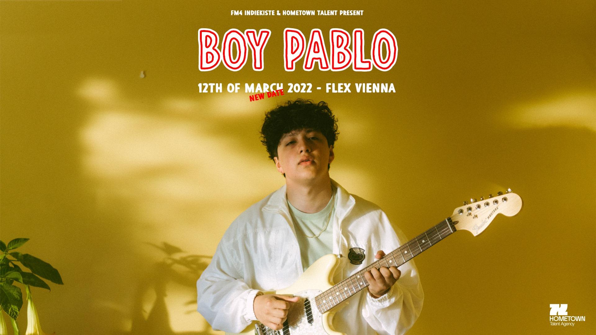 Boy Pablo am 8. March 2021 @ Flex - Halle.