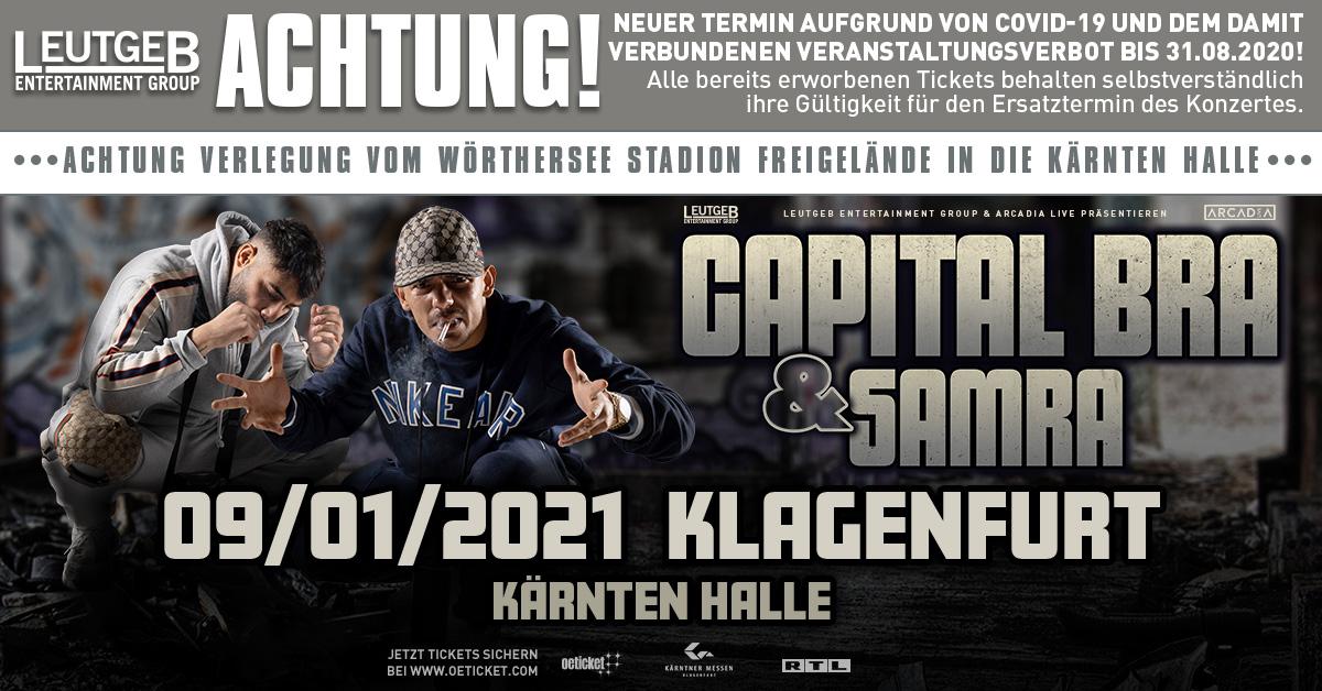 Capital Bra & Samra am 8. August 2020 @ Wörthersee-Stadion Freigelände.