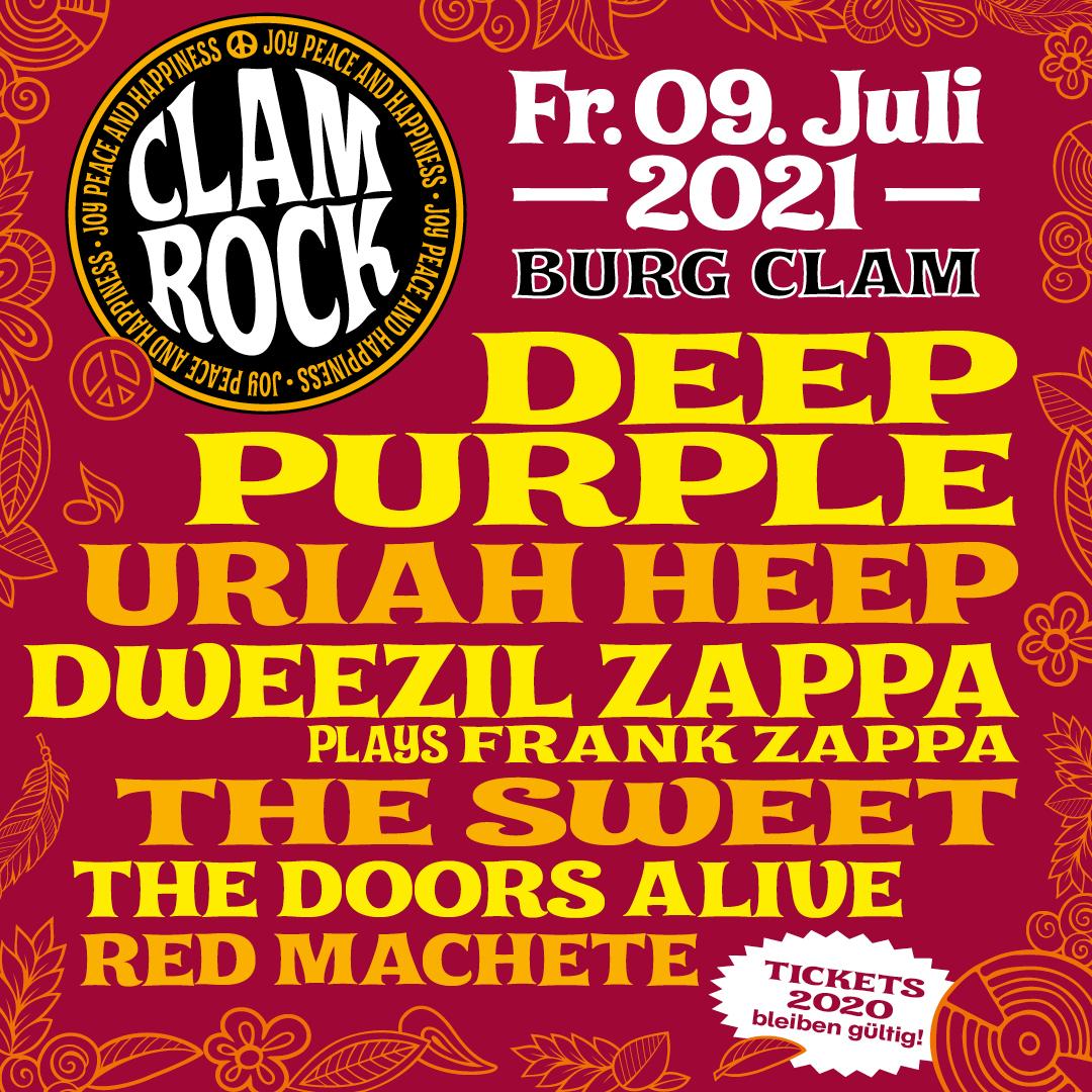 Clam Rock 2021 am 9. July 2021 @ Burg Clam.
