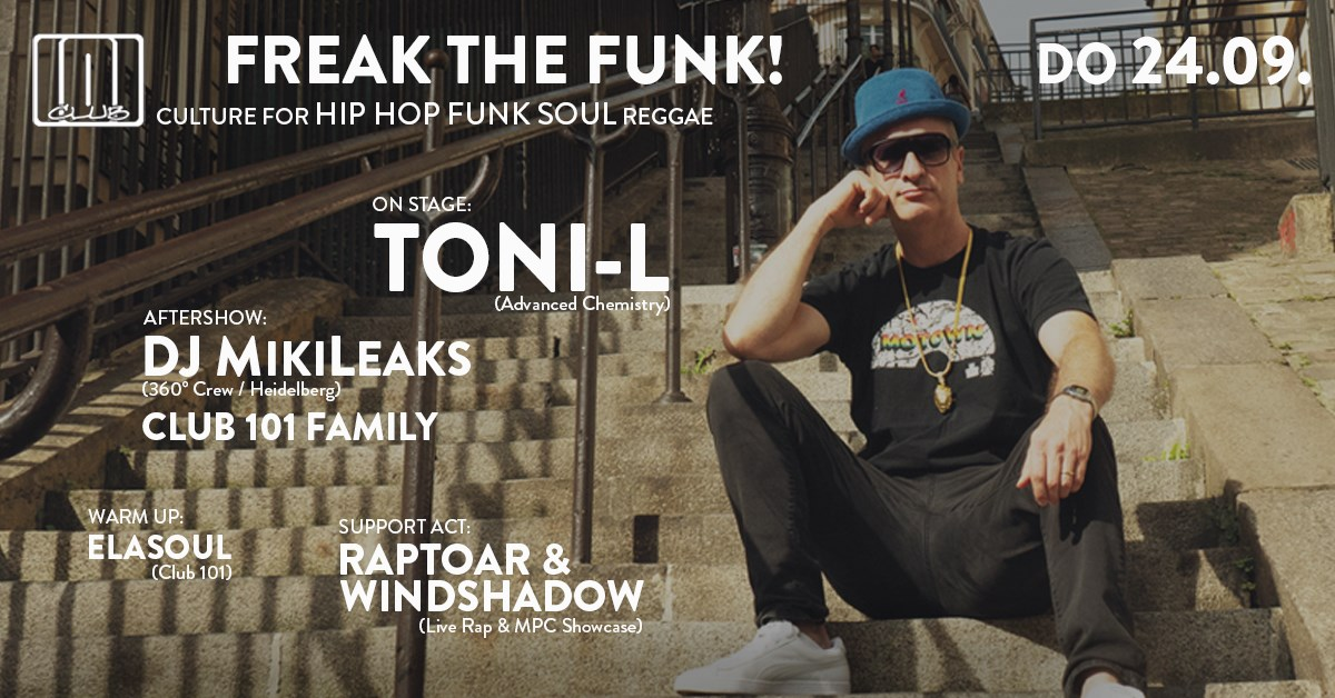 Club 101 - Freak the Funk! am 24. September 2020 @ Rockhouse Salzburg.