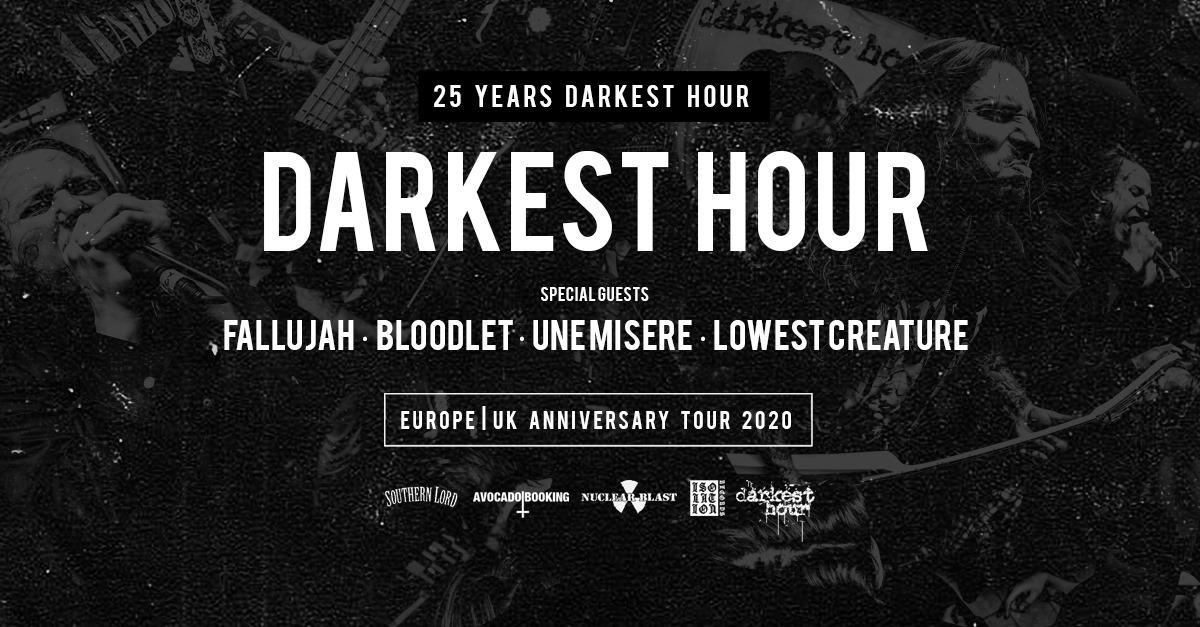 Darkest Hour am 27. January 2020 @ Arena Wien - Kleine Halle.