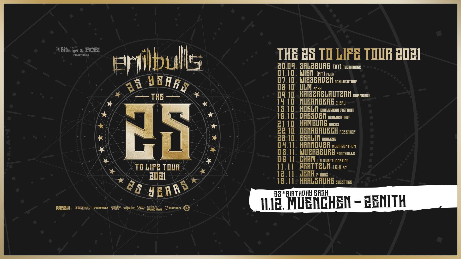 Emil Bulls am 30. September 2021 @ Rockhouse Salzburg.