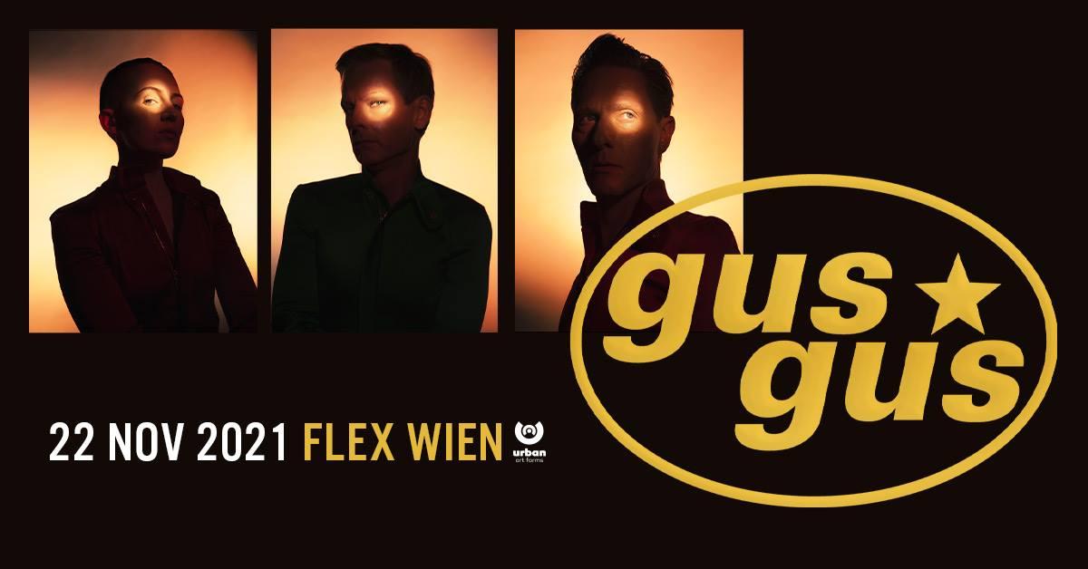 GusGus am 22. November 2021 @ Flex - Halle.