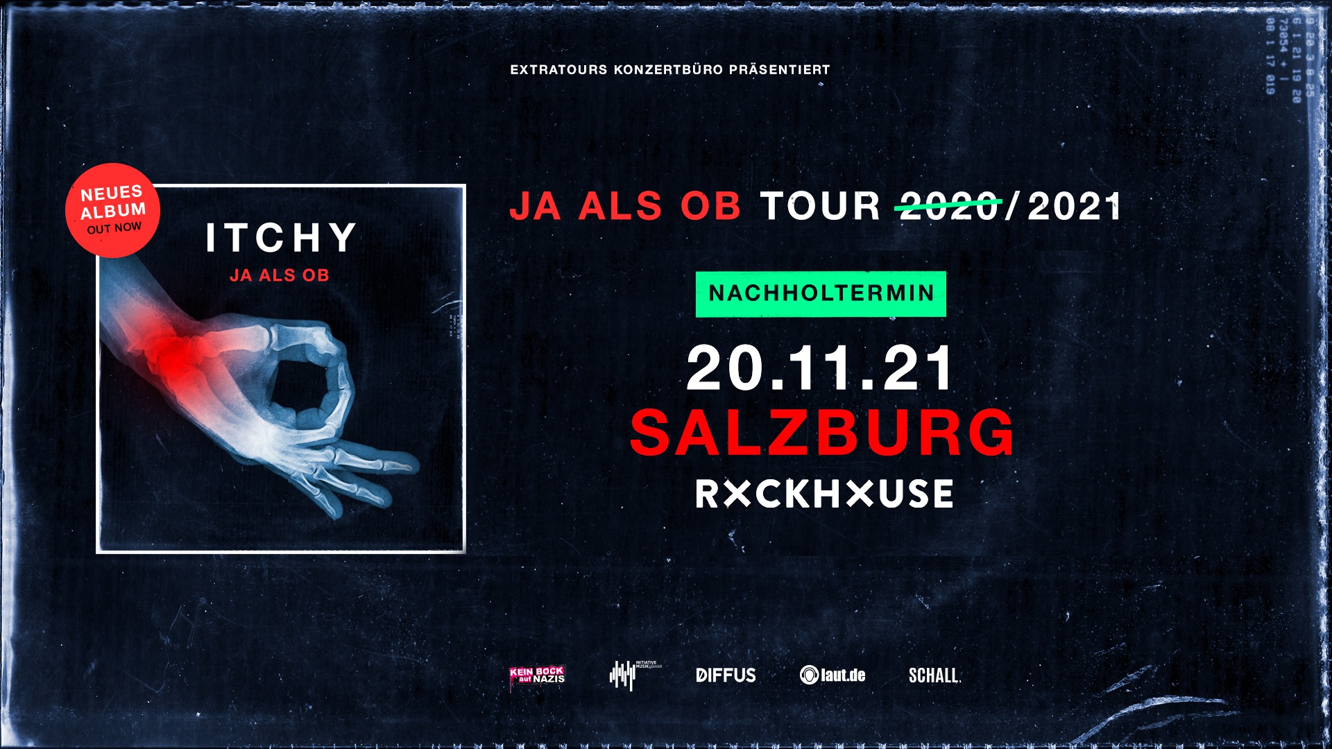 Itchy am 18. December 2020 @ Rockhouse Salzburg.