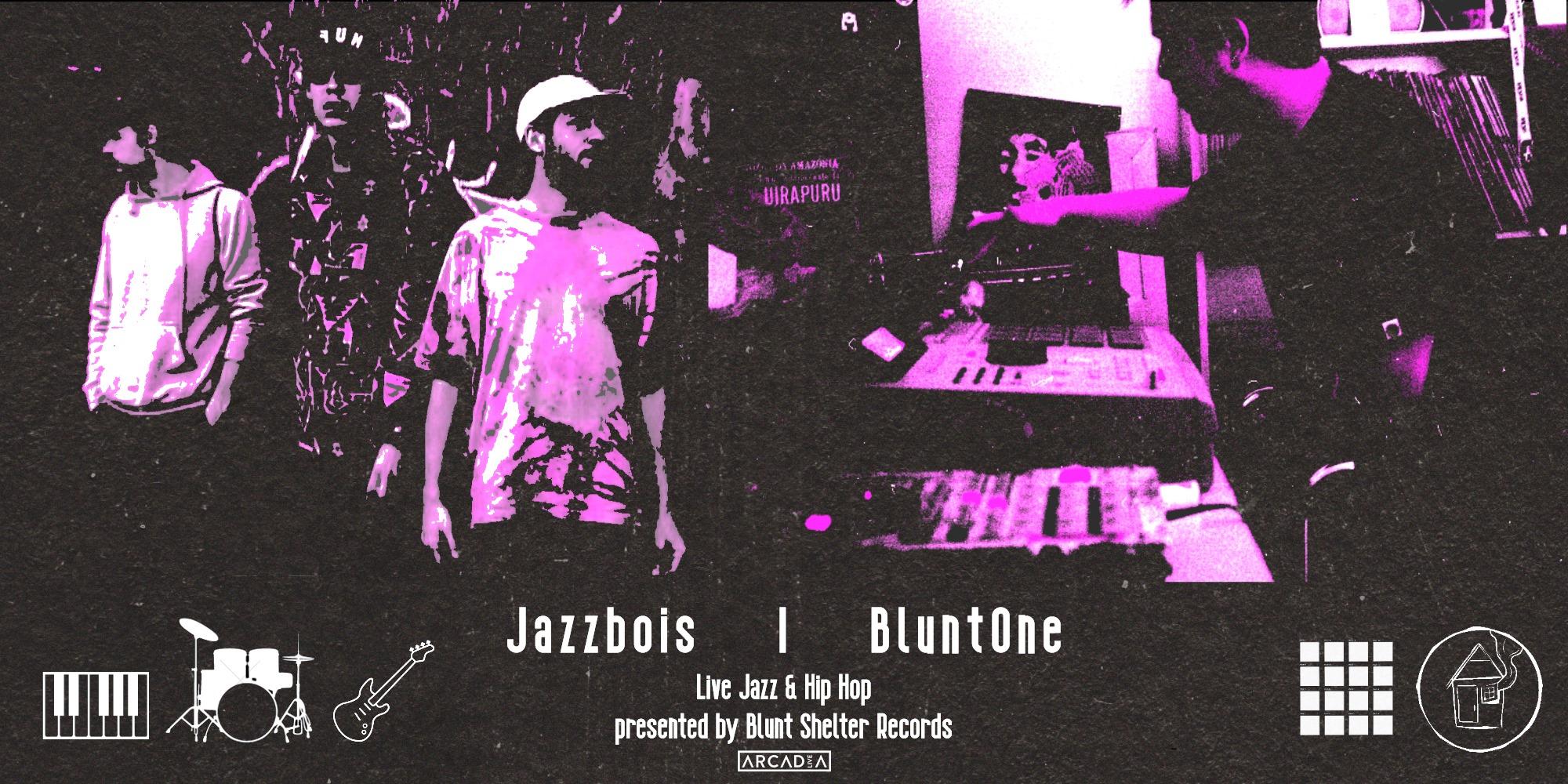 Jazzbois & BluntOne am 7. April 2020 @ Rhiz.