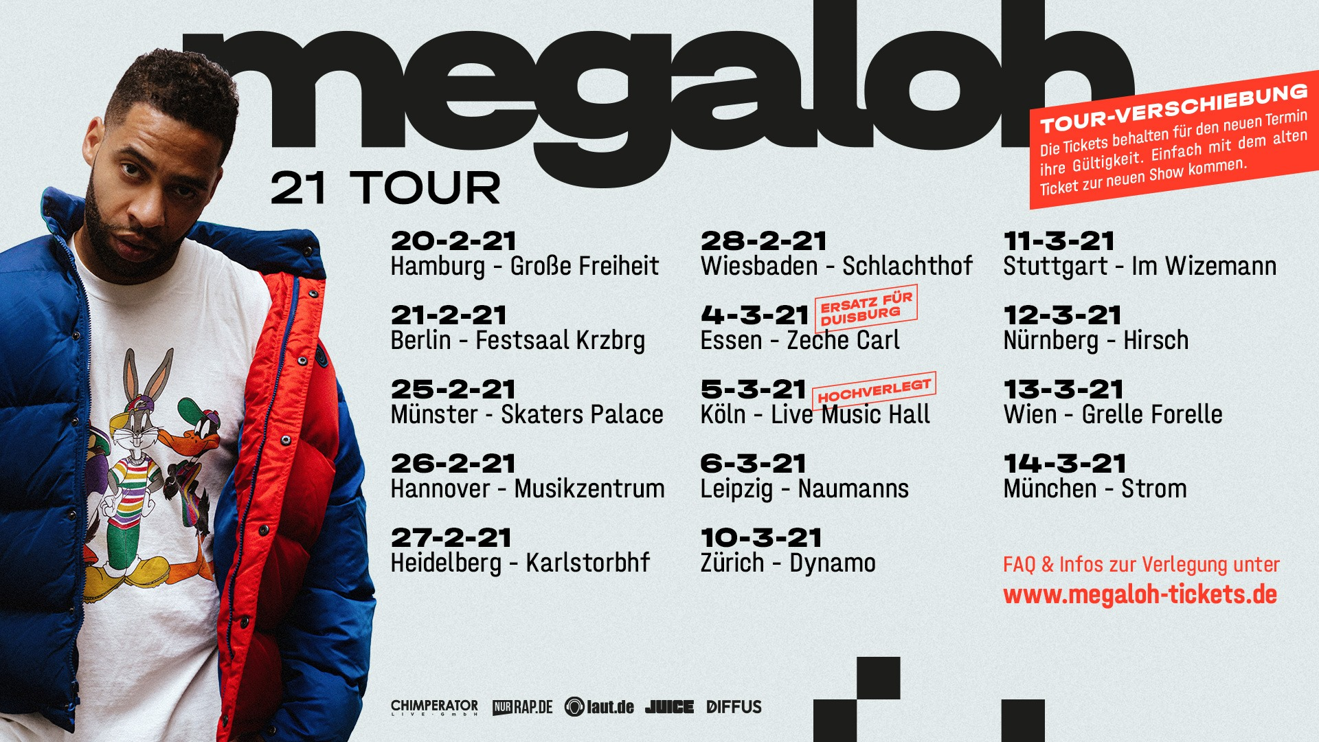 Megaloh am 3. October 2020 @ Grelle Forelle.