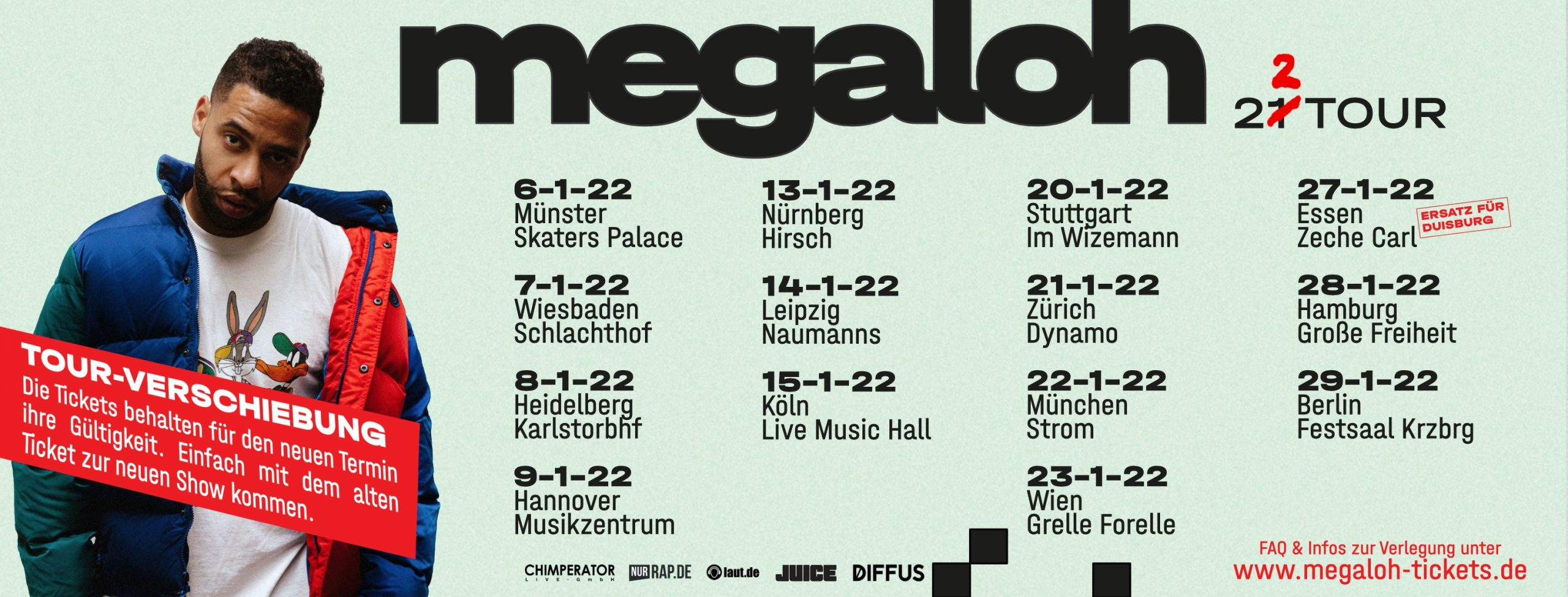 Megaloh am 13. March 2021 @ Grelle Forelle.