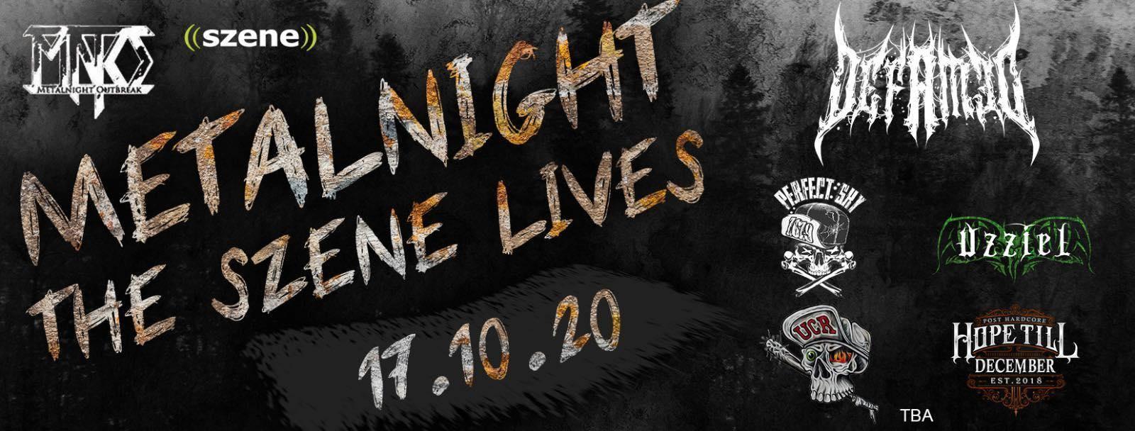 Metalnight - The Szene Lives am 17. October 2020 @ Szene Wien.