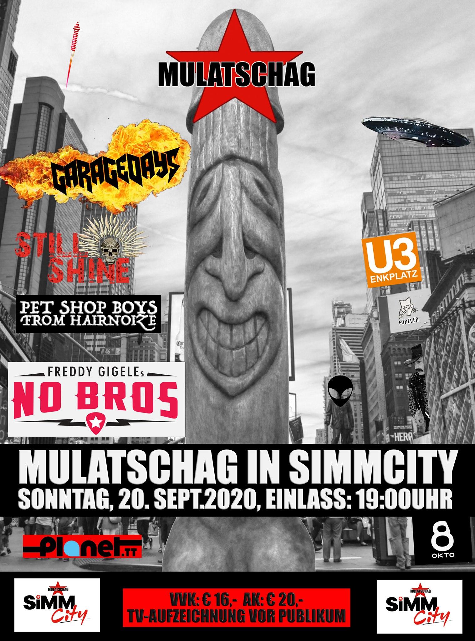 Mulatschag in Simm City #1 am 20. September 2020 @ Simm City.