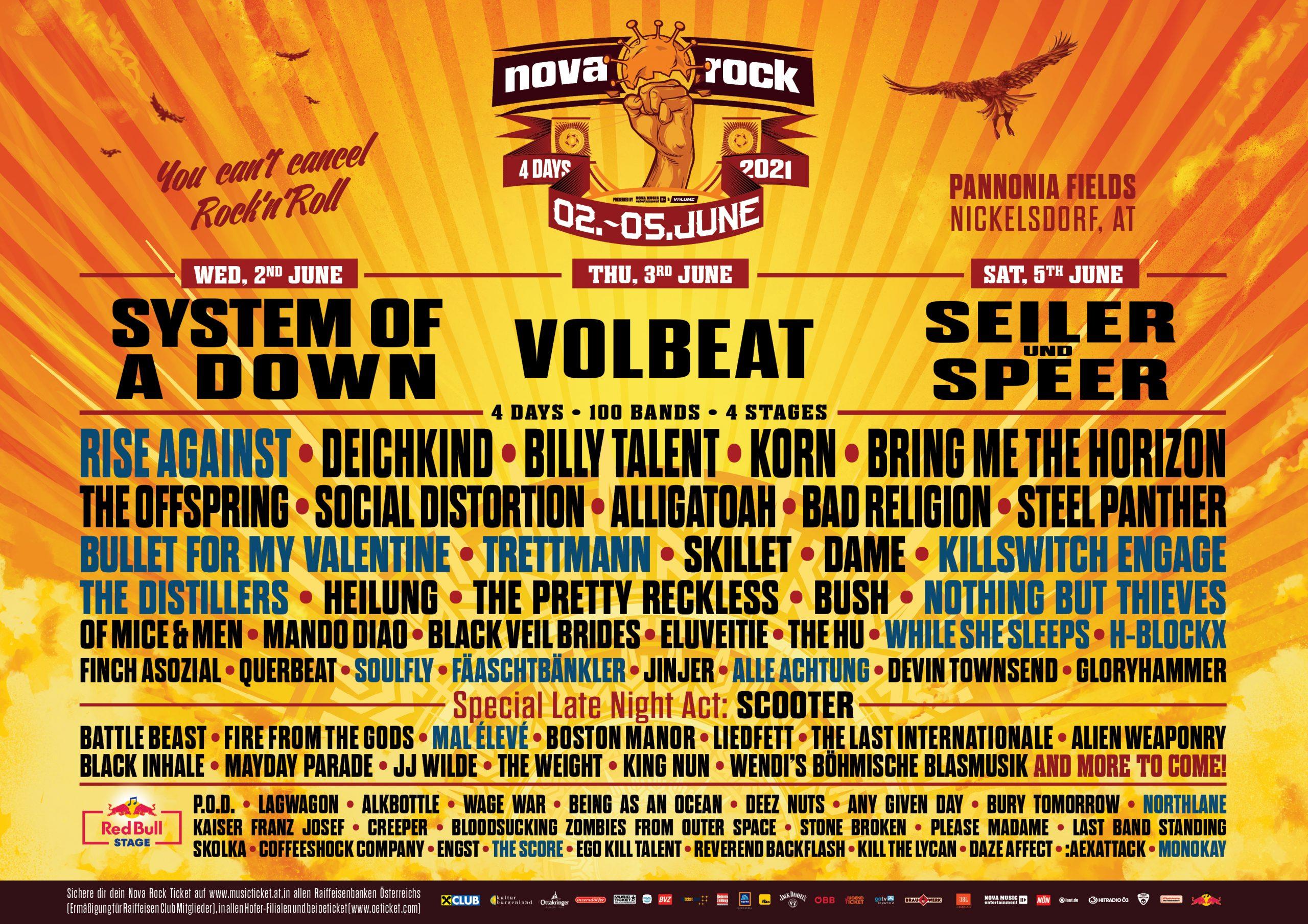 Nova Rock Festival 2021 am 2. June 2021 @ Pannonia Fields.