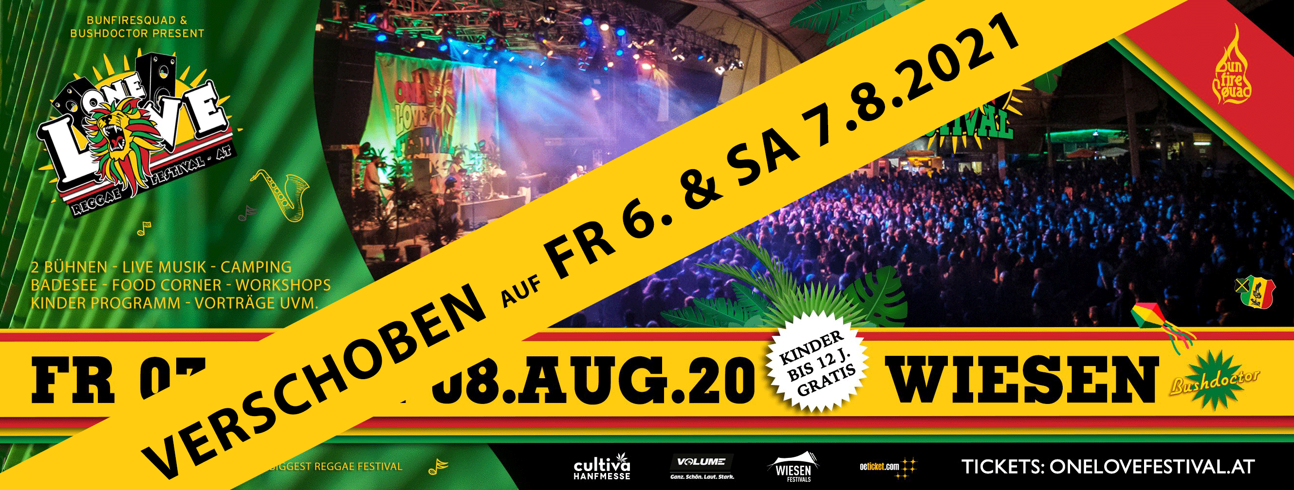 One Love Festival 2020 am 7. August 2020 @ Festivalgelände Wiesen.