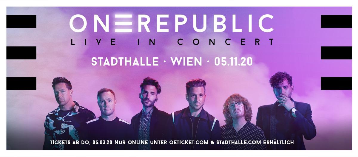 OneRepublic am 5. November 2020 @ Wiener Stadthalle - Halle D.