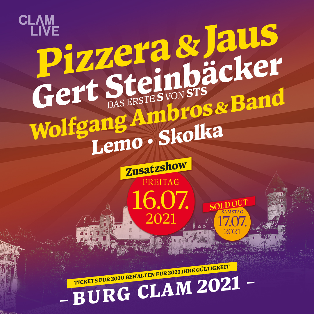 Pizzera & Jaus am 10. July 2020 @ Burg Clam.