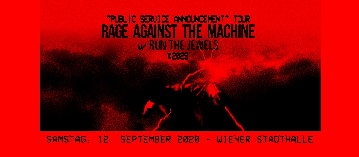 Rage Against The Machine am 12. September 2020 @ Wiener Stadthalle - Halle D.