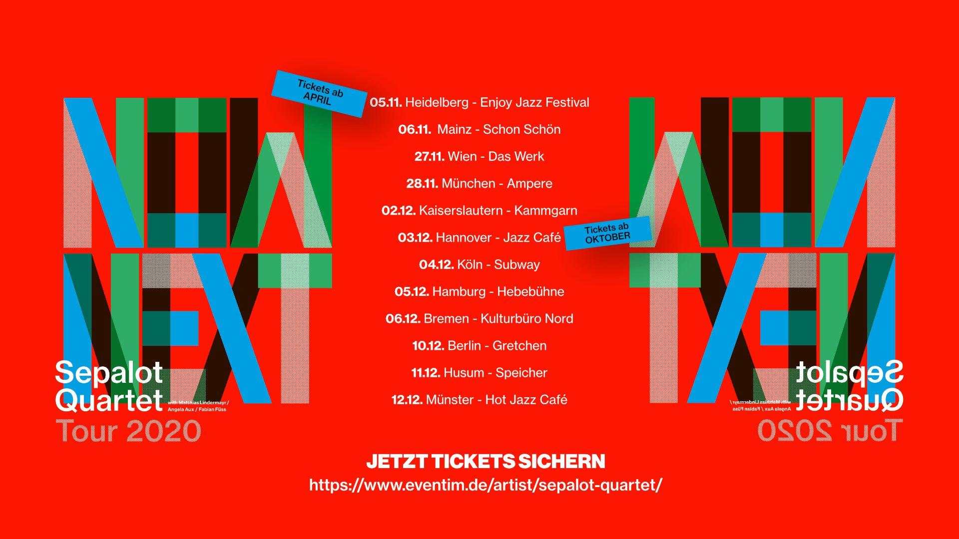 Sepalot Quartet am 27. November 2020 @ Das Werk.