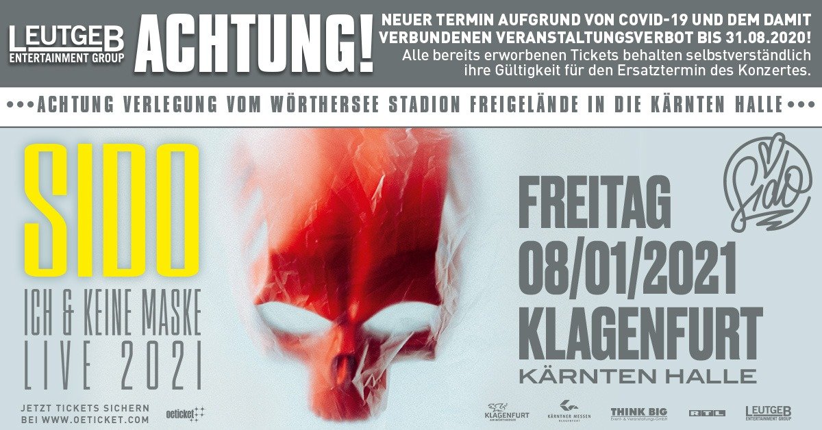 Sido am 28. August 2020 @ Wörthersee-Stadion Freigelände.