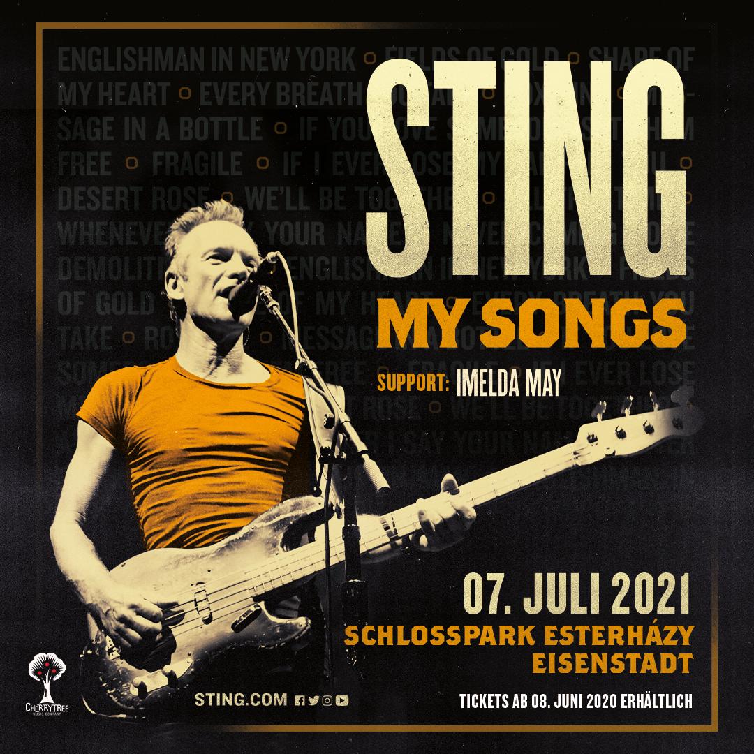 Sting am 7. July 2021 @ Schlosspark, Schloss Esterhazy.