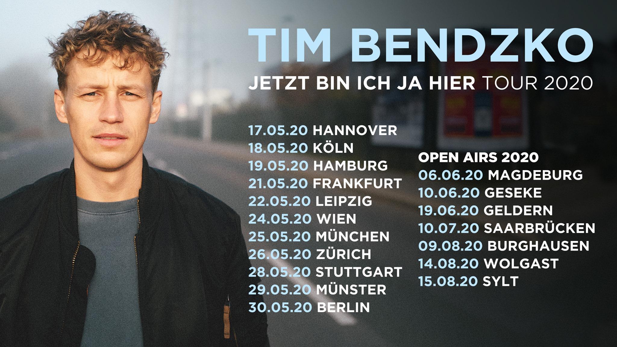 Tim Bendzko am 24. May 2020 @ Planet.tt Bank Austria Halle im Gasometer.