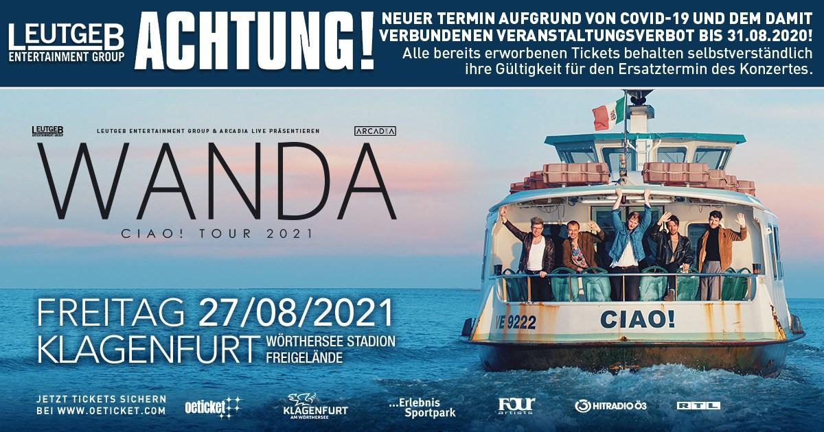 Wanda am 7. August 2020 @ Wörthersee-Stadion Freigelände.