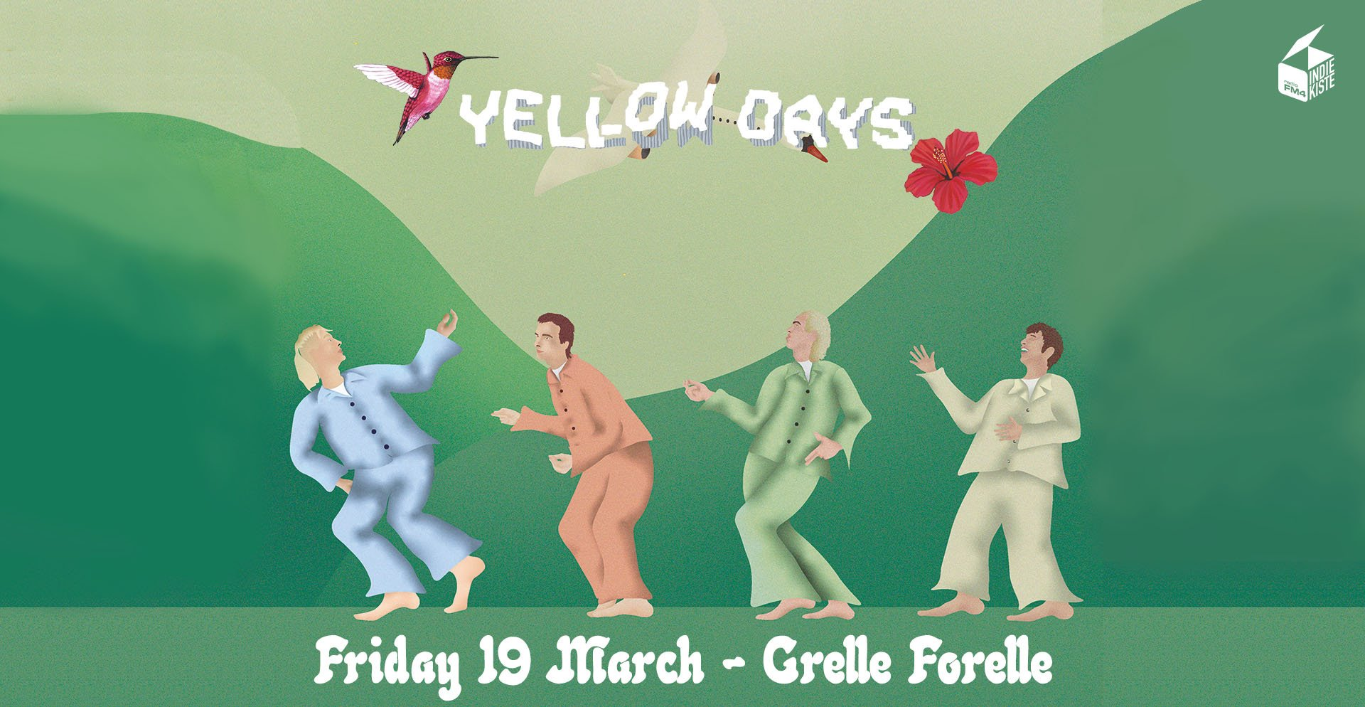 Yellow Days am 19. March 2021 @ Grelle Forelle.