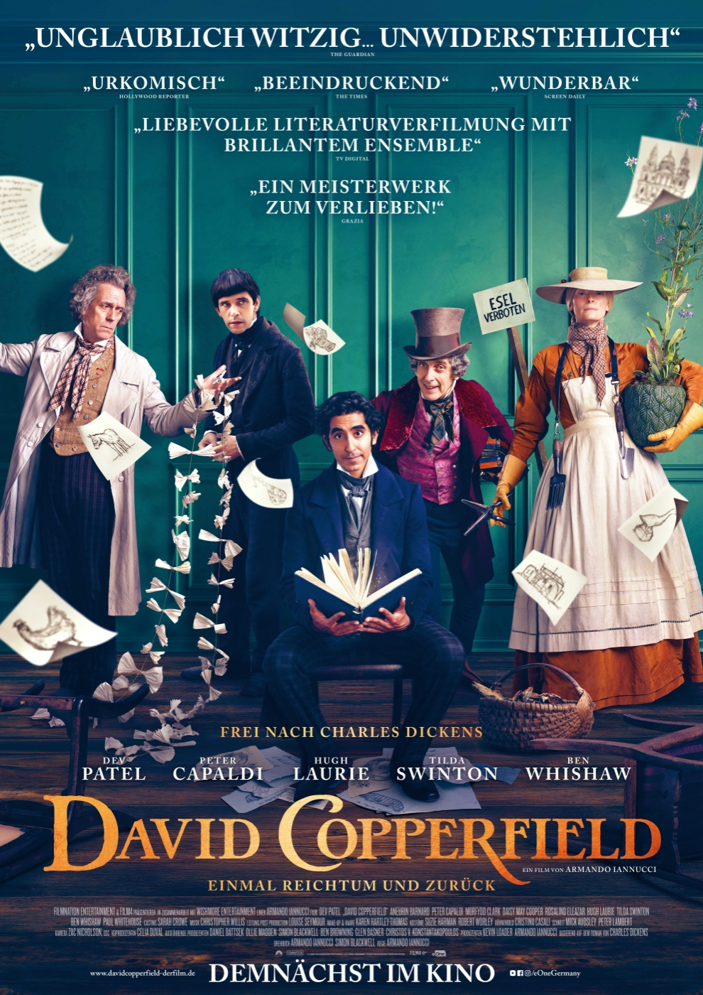 Volume Filmpremiere: David Copperfield - Einmal Reichtum und zurück am 24. September 2020 @ Apollo - Das Kino.