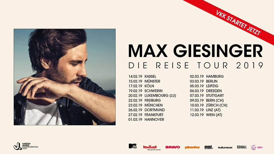 Max Giesinger am 12. March 2019 @ WUK.