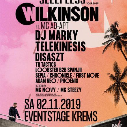 Mainframe Rec. Live! pres. Wilkinson & MC Ad-Apt – Sleepless Tour 2019