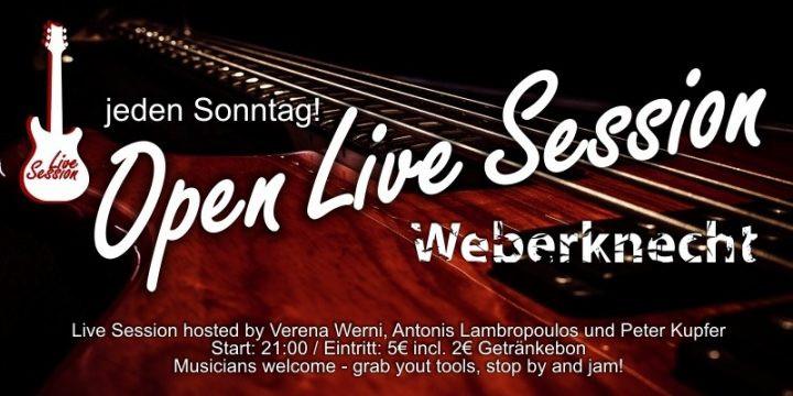 Open Live Session am 2. December 2018 @ Weberknecht.