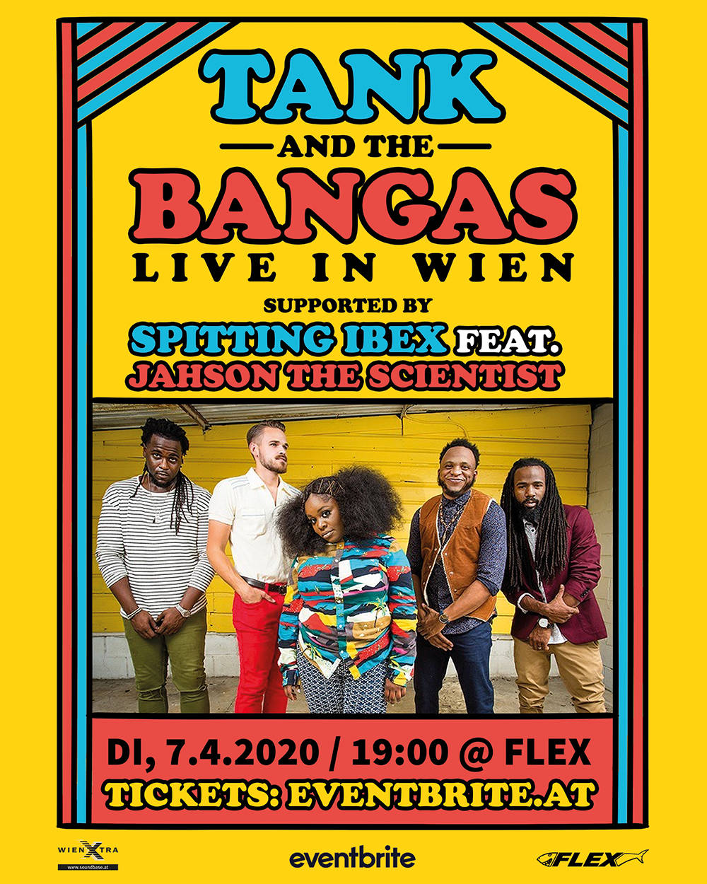 Tank and the Bangas / LIVE in Wien am 7. April 2020 @ Flex.
