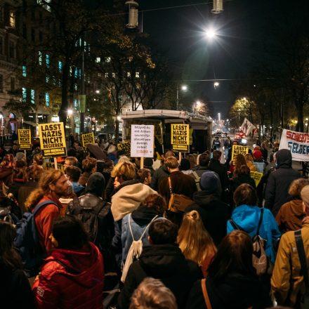 Demo gegen Kickl @ Schottentor Wien