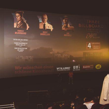 Volume Filmpremiere: Three Billboards Outside Ebbing, Missouri @ UCI Millennium City Wien