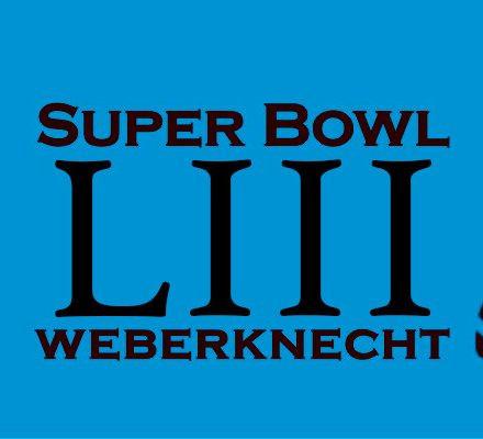 Super Bowl LIII im Weberknecht