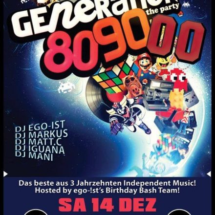 Generation 80s-90s-00! Free Party! + Mancini and the ugly Nineties