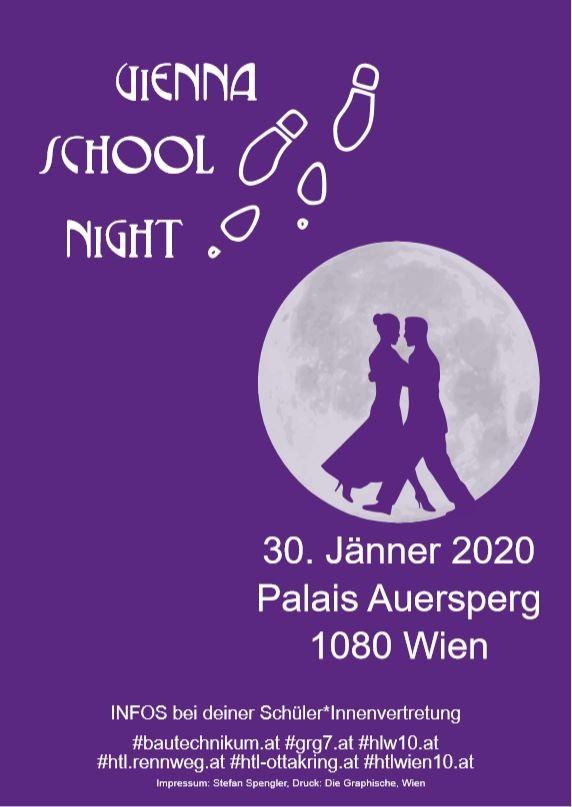 Vienna School Night 2020 am 30. January 2020 @ Palais Auersperg.