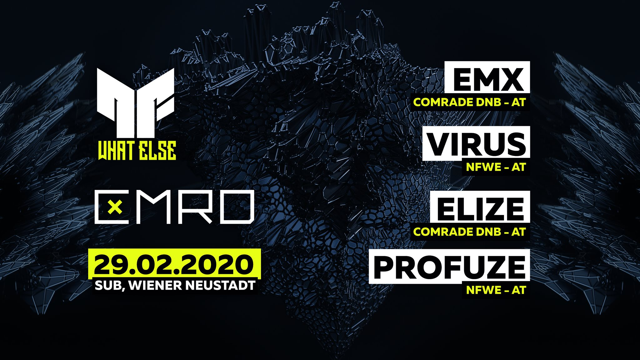 ◥ Neurofunk, what else & Comrade DNB | Label Night ◤ am 29. February 2020 @ SUB.