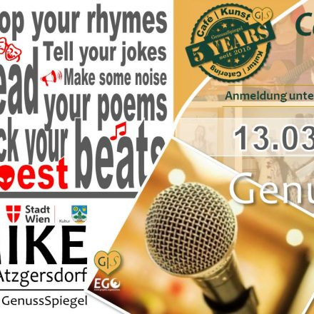 GenussSpiegel präsentiert: OPEN MIKE - Das offene Mikrofon von Atzgersdorf