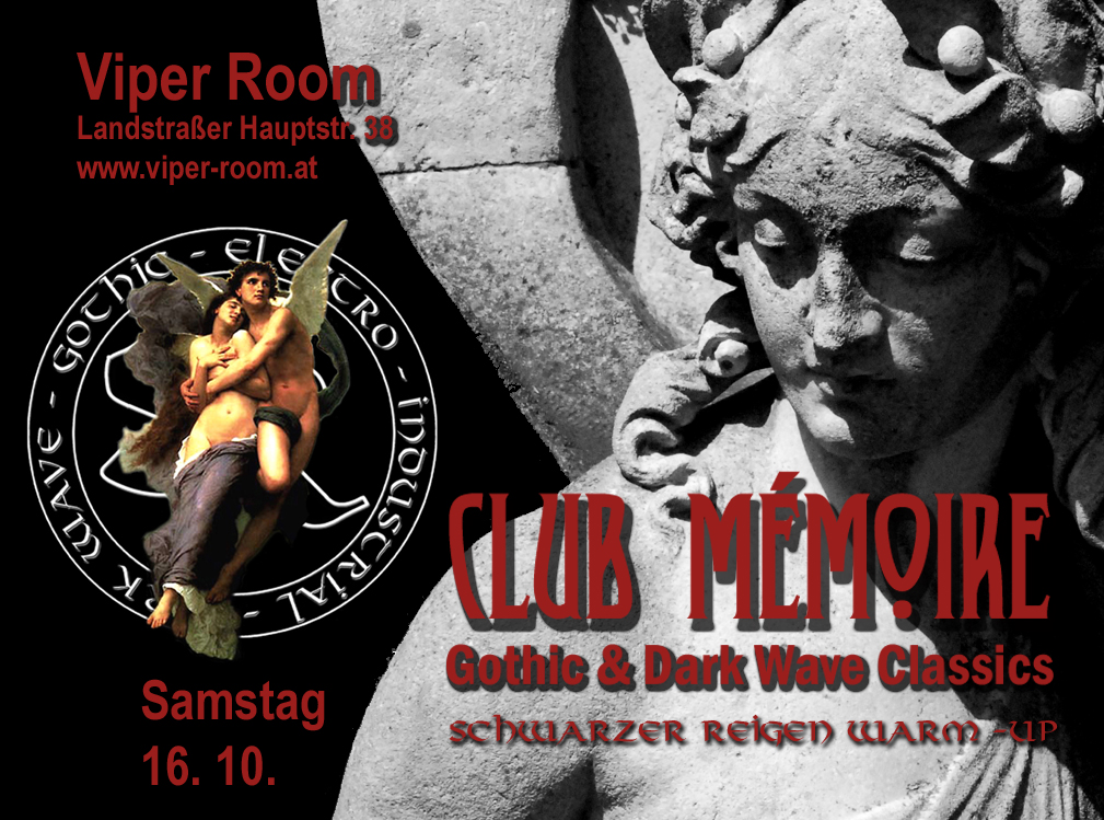 Club Mémoire - Schwarzer Reigen Warm-Up am 16. October 2021 @ Viper Room.