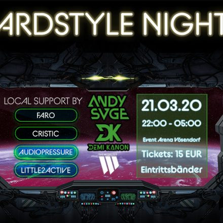 Endgame Hardstyle Night w/ Demi Kanon & Andy SVGE